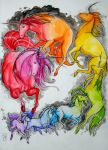Rainbow Unicorns by NienorGreenfield