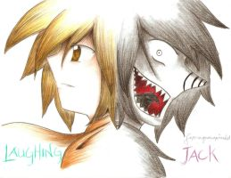 LAUGHING JACK COLORED PENCIL by superenguanapianist
