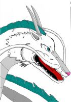 Haku from Spirted Away Digital by R83