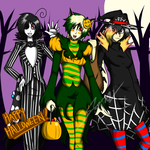 Happy (somewhat late) Halloween! by DarkSora501