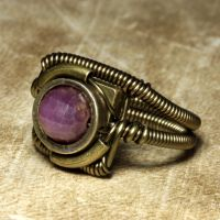 Steampunk ring Ruby 1 by CatherinetteRings