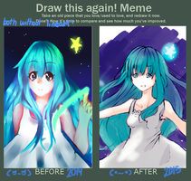 Before And After Drawing Stars by Nefery-san