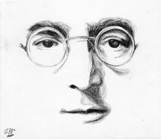 John Lennon by jengablocks