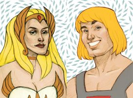 He Man and She Ra by wilred