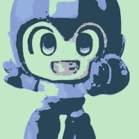 Megaman pop art chibi by DevintheCool