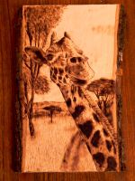 Giraffe Wood burning by brandojones