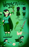 Veggenius- Ref Sheet by MousieDoodles