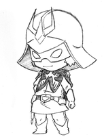Chibi Char Aznable Sketch by Vejit