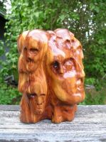 Faces In the Woodgrain by jrobertsart