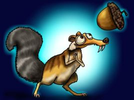 How to draw Scrat from the Movie Ice Age 4 Part 3 by SketchHeroes