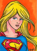 Sketchcard Supergirl by RichBernatovech
