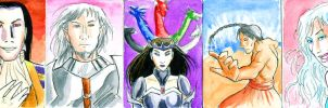 DL art cards: Gods by thenumber42