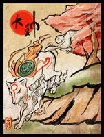 Ammy taking a walk .:Okami:. by EvilQueenie