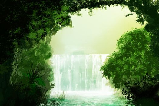 waterfall by viswakarma