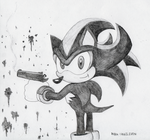 shadow the hedgehog by rubbe