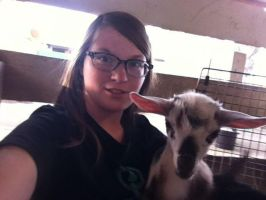 Selfie with A Goat by CinnabarTheDog