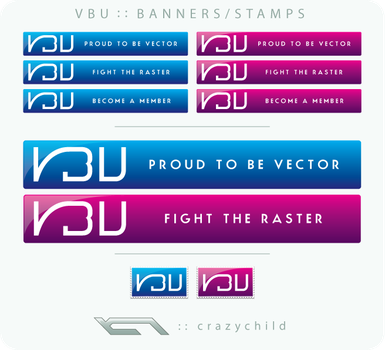 VBU Banners and Stamps by crazychild