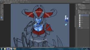 Trying new things - Shyvana by FEDsART