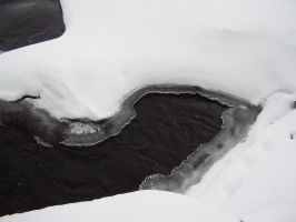 Winter Freezes Even Rapids by Pentacle5