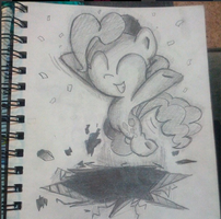 Pinkie Pie on paper by JamsWilliam58