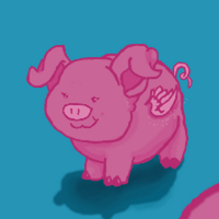 Porky ze Pig  20 point Adoptable by BIackFang