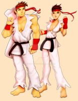 Two Versions of Ryu by andre4boys