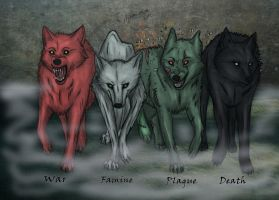 Wolves of apocalypse by Esphir