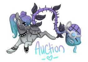 [CLOSED] Soft Goth Plant Pony Auction by EventidePonies