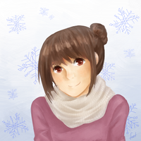 Give me some cute wintery girls by creylune