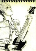 Mikey Way on Bass by Andrelica