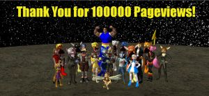 100000 Pageviews by HectorNY