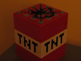 Minecraft TNT Block Made Of Lego by fusiondax