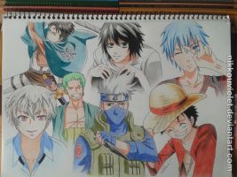my favourite Animeguys by NikkouViolet