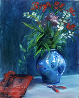 Flower Vase Still Life by Majass