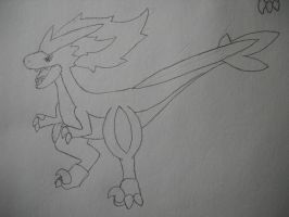 Fakemon Laceraptor by EpicFail222