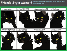 Friends Style Meme (Complete)  by INfernoLynx