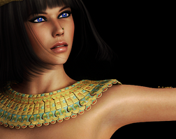 Lara Croft And The Temple of Osiris  ( Isis) by ElinorX