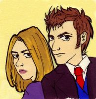 Doctor who and Rose Tyler 2 by Lily-Poulp