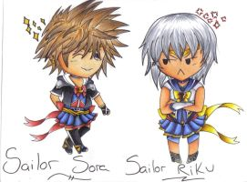 Sailor Sora and Sailor Riku! by Raspberry-Alleycat