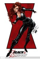 Black Widow by J. Scott Campbell by richmbailey