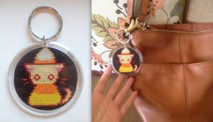 Candy Corn Kitty Keychain! ^o^ by emietheemerald