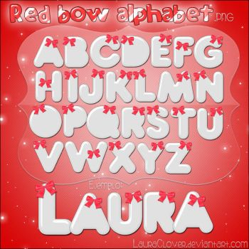 Red Bow Alphabet by LauraClover