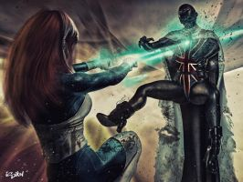 Icequeen VS Britannia by isikol