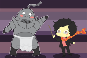 Alphonse and Harry Potter by iveinbox