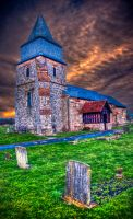 Creepy old church in england. by Textures-and-More