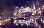 Canals at night by xQUATROx