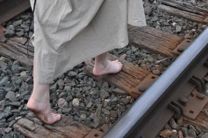 Steampunk Random Stock: Barefoot and Tracks VI by kndrwllmsn