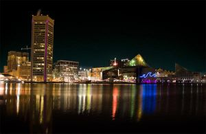 Baltimore waterscape in PURPLE by homesickellian