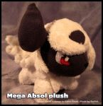 Mega Absol plush by Siplick