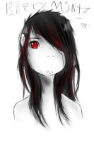 emo girl colored by Kittymintz